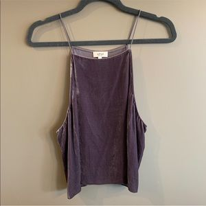 Aritzia | Wilfred w/ Silk - High Neck Velvet Tank